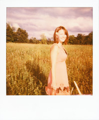Polaroid - Sun 600 1983 instant film camera (Jsdeitch) Tags: portrait woman sun field female barn forest portraits canon polaroid eos 50mm dress mark iii barns 600 fields l 5d 12 anita ef f12 12l f12l 5d3 5diii