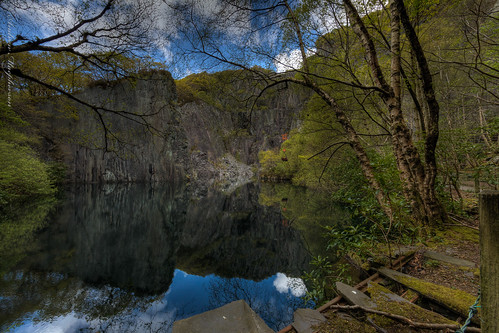 Lagoon in quarry