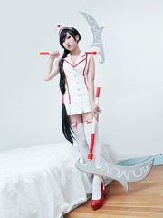 Nurse Akali Cosplay (rinnieriot) Tags: shadow hospital asian costume cross cosplay lol champion needle rpg fist legends nurse cosplayer league multiplayer mmorpg akali ulzzang