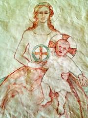 Madonna and Christ (radiowood) Tags: art church sweden medieval gotland