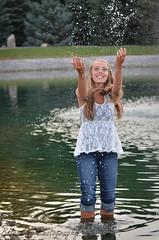 SPLASH :) (BHawk Photography) Tags: summer water girl fun 50mm pond splash playful nikond7000