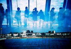 -Ocean view from the Shard (Hodaka Yamamoto) Tags: sea sky cloud london silhouette lomo lca xpro lomography crossprocessed xprocess brighton fuji unitedkingdom doubleexposure crossprocess double lomolca multipleexposure observatory crossprocessing ferriswheel doubles multiexposure filmswap fotobes hodachrome