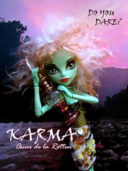 Karma - Do You Dare? (tuneful87) Tags: sky green st monster clouds hair landscape gold james high rocks do dress purple skin you wig mohair blonde dare karma create viper gorgon