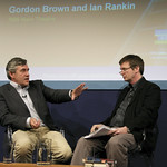 Gordon Brown chats to Ian Rankin