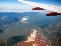 Bay Area aerial view (pr0digie) Tags: sanfrancisco bridge airplane view sanjose aerial bayarea southbay sanmateo sfbay birdseye