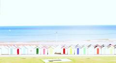Colourful beach houses on the English Riviera. (AshSaycheese) Tags: sea england beach sunny devon colourful beachhuts paignton englishriviera
