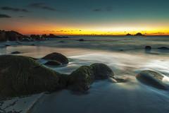 GoldenHour (Martin Mattocks (mjm383)) Tags: longexposure sunset seascape texture water golden landscapes rocks cornwall horizon boulders cotvalley porthnanven canoneos5dmarkii mjm383 martinmattocksphotography