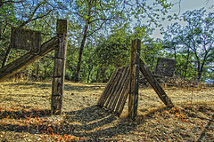 Gateway To Autumn (socaltoto11) Tags: trees abandoned landscapes woods country forgotten weathered weatheredwood forests woodposts countrylandscapes tularecountyca