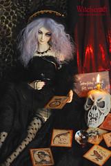Witchcraft (= ann =) Tags: black halloween skull doll witch magic gothic evil marion spell wicked mohair buff bjd superdollfie volks hybrid sd16 alchemiclabo unoazero arakigentarou