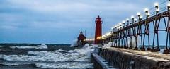 Gales of November (Mi Bob) Tags: waves unitedstates michigan lakemichigan grandhaven highwinds galesofnovember