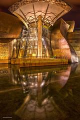 Guggenheim (Sebdows.Photography) Tags: reflection museum night gold bilbao guggenheim manual hdr bilbo blending thephotographyblog