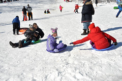snowfun (greenelent) Tags: winter red people white snow kids children fun photoaday sledding 365 sled wintersports