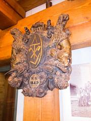 1843 Masonic shield (quinet) Tags: berlin museum germany citadel muse masonic shield spandau 1843 zitadelle bouclier schirm freimaurer 2013 maonnique vision:sky=0514 vision:outdoor=0528
