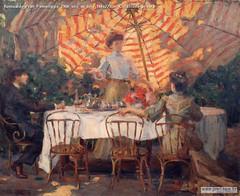 Romualdo Prati Pomeriggio 1906 olio su tela 188x229cm Collezione privata