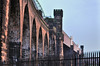 Brittania Bridge Catching the Evening Light (Jim the Joker) Tags: sunset railway viaduct runcorn rivermersey ethelfledabridge thebrittaniabridge