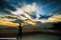 Sunset with POKMOT on ThisPhoto (Rafie Rosli Putra) Tags: point colours sunsets tip malaysia magnificent johor eurasia southernmost pontian tanjungpiai thisphoto rafierosliputra ulflianth