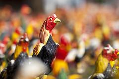 Thai Chicken (siebe ) Tags: wood chicken statue thailand wooden shrine kip thai offering 2014