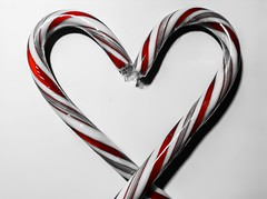 Heart shaped CandyCanes