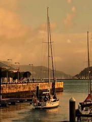 The Golden Hour (saxonfenken) Tags: goldenhour vigo spain harbour jetty yacht boat herowinner pregamewinner challengeyou friendlychallenges favescontestwinner twothumbsup gamewinner thumbsup storybookwinner thumbwrestler perpetual 1057s 1057