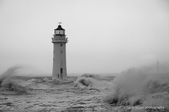 Windy Perch Rock (*Richard Cooper *) Tags: new sea irish lighthouse rock brighton perch wallasey wirral merseyside
