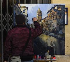Pintando en la calle I (Ignacio M. Jimnez (antes hermano Montgolfier)) Tags: espaa spain andalucia espana jaen andalusia pintura pintores ubeda