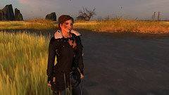 Traversing the wilds (alexandriabrangwin) Tags: world woman field creek computer lost 3d hurt graphics missing alone open adventure secondlife virtual swamp wilderness plains muddy loner cgi drifter adventurer starving alexandriabrangwin