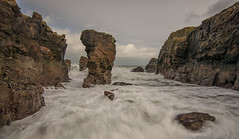 Aberdeen sea stack (Katherine Fotheringham) Tags: aberdeen aberdeenshire scotland sea stack rock waves north cliffs