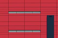 abstract university (JanNiezen) Tags: architecture windows school blue red grey