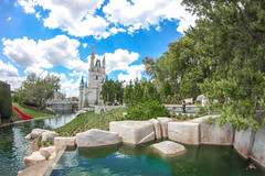 Kingdom (jordanhall81) Tags: magic kingdom cinderella castle waterfall lagoon water sky blue cloud mout beautiful wdw walt disney world resort theme park amusement show live fisheye rokinon 8mm florida orlando spring outdoor bright vacation architecture building