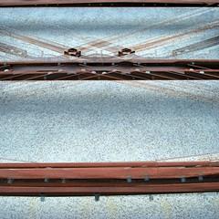 Metal & Mortar Composite (unclebobjim) Tags: normandie normandy mortar metal lattice bolts squarecrop abstractcomposite