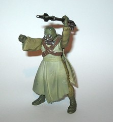 tusken raider with gaderffi stick battle club star wars power of the force 2 red card 1996 collection 2 basic action figures hasbro 2d (tjparkside) Tags: tusken raider with gaderffi stick battle club star wars power force 2 red card 1996 collection basic action figures hasbro potf2 potf two figure tatooine ep episode 4 iv four new hope sw anh removable cloak sandperosn sandpeople raiders cardback