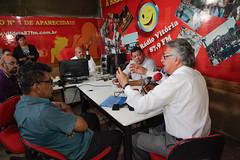 Visita a rádio Vitória 87 fm de Aparecida - 06/04/2017 (Ronaldo Caiado) Tags: visita rádio vitória 87 fm de aparecida 06042017 goiânia go créditos leandro vieira