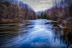 """Go With the Flow"" (MatthewPerry) Tags: ottawa manotick nepean jock river rideau bridge long exposure nd filter fuji fujifilm fujixseries series fujixt2"