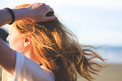 Missing Summer (MonaPunkt) Tags: summer girl redhead redhair newzealand beach wind freckles
