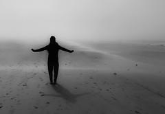 fog and backlight (HJK Photography) Tags: monochrome mono lowkey sw bw iphone7 coast fog silhouette iphone