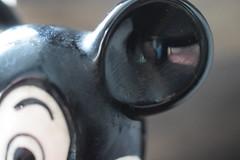 I'm listening (jan.ashdown) Tags: figurine chinafigure shiny glaze closeup macro figure china disneyworld disney mouseear mickeymouse ear