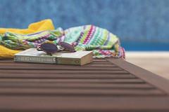 Ya huele a verano (Ines L. Pisano) Tags: piscina toalla leer libros lectura gafas sol swimmingpool read reading book holiday vacaciones relax sunglasses sunlight colorful