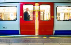 The Unimpressed (amirdakkak1) Tags: man train tube men human people indoor tubestation station trainstation indoors nighttime night london uk londonstation sad mad slowshutter longexposure
