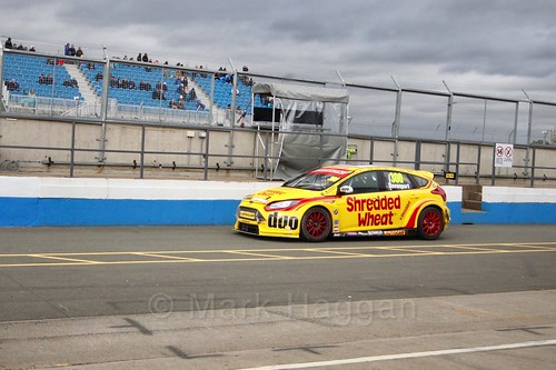 Luke Davenport after race two at the British Touring Car Championship 2017 at Donington Park