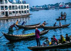Dhaka Sadarghat (Shahriar Arifin) Tags: sadarghat dhaka riverport water boat boatman blue
