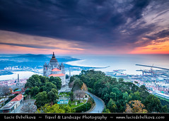 Portugal - Viana do Castelo - Santuário de Santa Luzia at Sunset (© Lucie Debelkova / www.luciedebelkova.com) Tags: vianadocastelo portugal portuguese mirandese portugueserepublic repúblicaportuguesa repúblicapertuesa portugalsko europe europeanunion southwesterneurope iberianpeninsula world exploration trip vacation holiday place destination location journey tour touring tourism tourist travel traveling visit visiting sight sightseeing water waterscape wasser agua coast coastline shoreline shore mar mer sea meer zee mare océan ocean seascape seaside coastal beach praia playa plage spiaggia strand lake wonderful fantastic awesome stunning beautiful breathtaking incredible lovely nice best perfect wwwluciedebelkovacom luciedebelkova