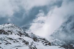 Winter in Bergen (Steinskog) Tags: ulriken bergen norway snow winter mountain clouds wind