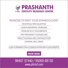 Reasons to meet your Gynaecologist (Prashanth Fertility Hospital) Tags: