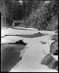 mill along bear creek (mike thomas) Tags: 180mm fujinon landscape chamonix largeformat fomapan 4x5 100 film blackwhite