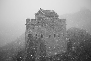 The Great Wall in a Snow Storm