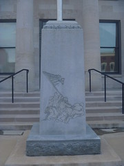 Iwo Jima Tablet, Franklin County Courthouse, July 31,2016 (rustyrust1996) Tags: franklincounty frankfort kentucky courthouse memorial tablet iwojima