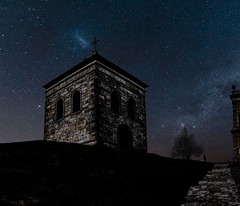 Holy Cross belfry / Dzwonnica na Św.Krzyżu (marcin.piontek) Tags: ifttt 500px sky travel cross church night europe tourism architecture tree path building stars mountain monastery hill holy springtime christian scenic belfry crest poland