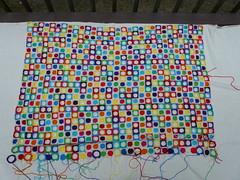Rows 1 through 23 (crochetbug13) Tags: crochet crocheted crocheting crochetcircles crochetsquares crochetblanket crochetafghan hilbertcurve crochethilbertcurve texturedcrochet