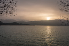 sunset over the lake.. (ckollias) Tags: beautyinnature cultures day frameit lake landscape mountain mountainrange nature nopeople outdoors scenics sky sunset tranquility traveldestinations tree water