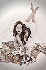 Cover Girl (bsurma) Tags: pinup bsurma people americana bill surma billsurma portrait